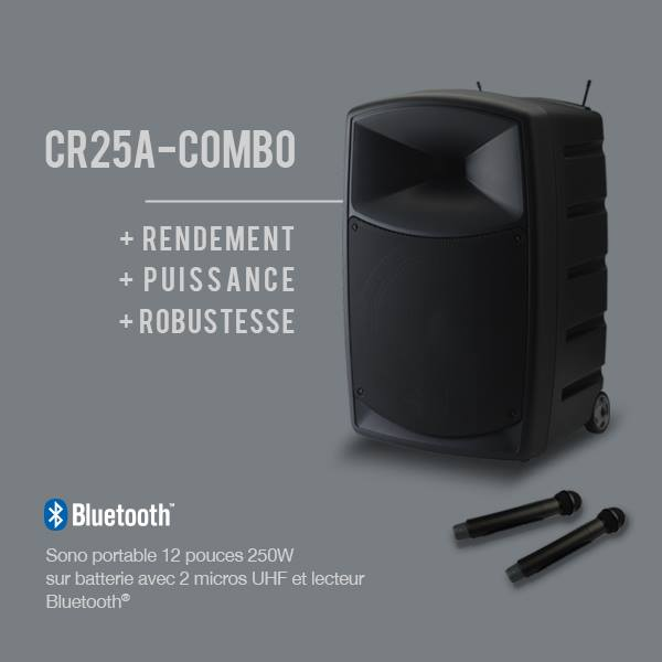 cr25a combo autonome sur batteries